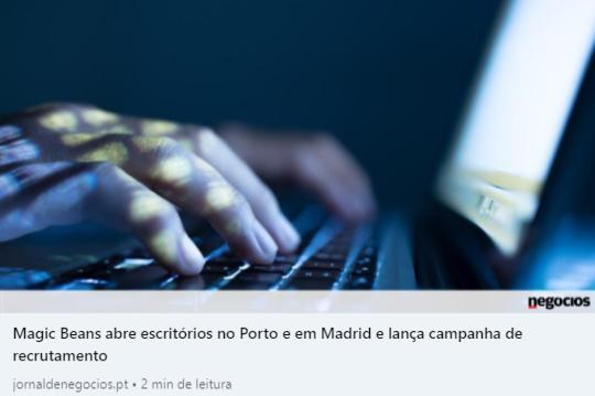 Jornal de Negócios - Escritórios Porto e Madrid
